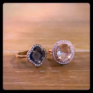 Set of rose gold rings! (Costume jewelry)
